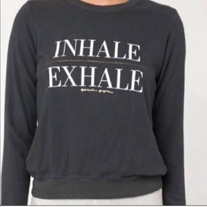 Spiritual Gangster Inhale Exhale Black Pullover